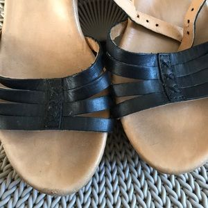 UGG Shoes - Ugg strappy wedge shoes 7.5 cork black as is